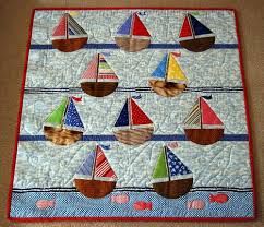 17 Best images about Miniatur-Quilts on Pinterest | Quilt ... & Sailboat Baby Quilt | nautical quilt patterns find the largest selection of nautical  quilt . Adamdwight.com