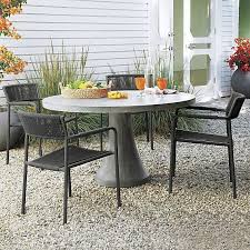 outdoor furniture crate and barrel. Morocco Concrete Dining Table | Crate And Barrel Outdoor Furniture %