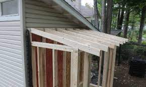 2x4 or 2x6 rafters for shed roof