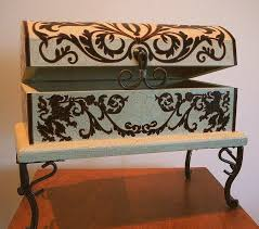 cool painted furniture. Cool Painted Furniture. Furniture Mixed Media - Hand Box On Legs With Lion Floral I
