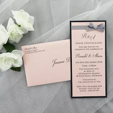 Pink Navy Blue And Silver Invitation With Ribbon And Bow