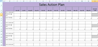 Example Sales Action Plan Sample Get Sales Action Plan Template Free Excel Spreadsheets And Creating