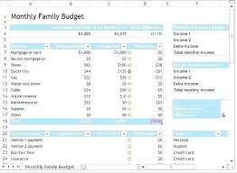 Template For Home Budget Household Budget Worksheet Template