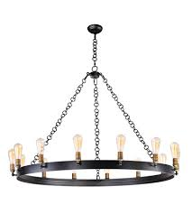 maxim 26276bknab noble 14 light 50 inch black natural aged brass clean and chandelier 3