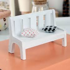 dollhouse outdoor furniture. exellent dollhouse new fasion 1pc awake miniature dollhouse furniture accessories wooden garden  chair outdoor park bench home for furniture