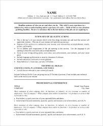 How To Make A One Page Resume Sample One Page Resume 9 Examples In Word Pdf