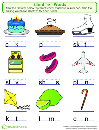 Wilson Vowel Chart Silent E 1 2 3 Lesson Plan Education Com