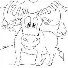 Small Picture Moose coloring page Animals Town animals color sheet Moose