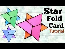Star Fold Card Tutorial How To Make Napkin Fold Card