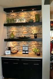 Floating Shelves With Built In Led Lights Extraordinary Living Floating Shelves With Lights Underneath For Kitchens Led