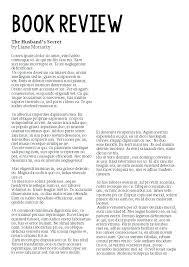 Newspaper Book Report Template 10 Book Report Example 1mundoreal
