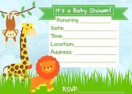 Party Templates Baby Shower Invitation Jungle Theme Epic Safari Themed Templates