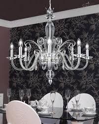 beautiful chrome crystal chandelier