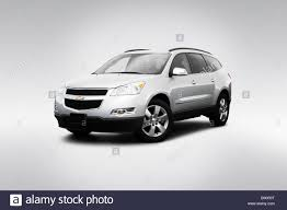 2009 Chevrolet Traverse 2LT in Blue - Front angle view Stock Photo ...