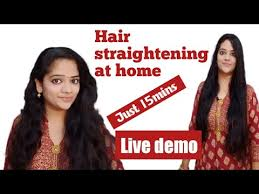 hair straightening at home how to do