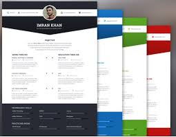 5 free template psd 4 colors creative resume templates download free