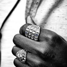 Blauwe Montgomery Ring
