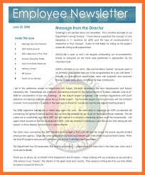 Employee Newsletter Templates Free 9 10 Free Employee Newsletter Template Ripenorthpark Com