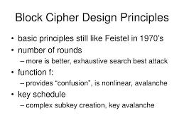 Block Cipher Design Principles Ppt Modern Block Ciphers Powerpoint Presentation Free