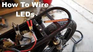 How To Install Led Lights On A Motorcycle How To Wire Motorcycle Led Lights