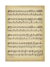 Music Paper Print Vintage Music Sheet Giclee Print By Marcus Jules Art Com