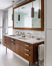 mid century bathroom. Mid-Century Modern Bathroom Ideas-07-1 Kindesign Mid Century D