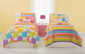 rainbow polka dot bedding