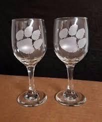 nice wine glasses. Plain Glasses Image Is Loading SETOF2NICEETCHEDWINEGLASSESCLEMSON Intended Nice Wine Glasses