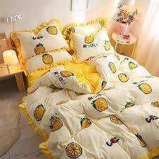 2020 new series bedding sets yellow bed