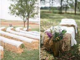 Hay bale decor inspiration for a relaxed wedding // The Natural Wedding  Company