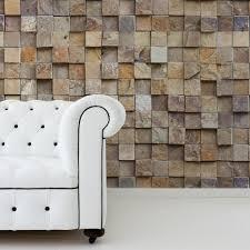 Móvel de tv com mármore branco. Papel De Parede Pedra Canjiquinha Quadrada Stickdecor