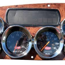 peterbilt 387 chrome dual speedometer tachometer gauge bezel peterbilt 387 chrome plastic dual speedometer tachometer large gauge bezel w visor