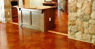 Red Stained Floor Concrete Floors Peyton & Associates Montgomery, ...