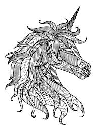 They like same with a horse and has more 1 horn on the head. Unicorn Head Unicorns Adult Coloring Pages