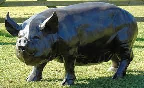 metal sculptures pig garden ornaments