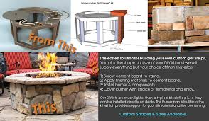 complete custom do it yourself fire pit kits