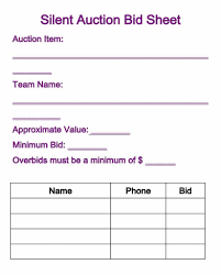 auction bid sheet template free 013 silent auction bid sheet template 824x1024 fearsome