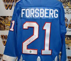 Nordiques Jersey Peter Quebec Forsberg Autographed