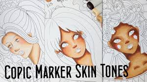 Copic Hair Color Chart How To Color Different Skin Tones With 10 Copic Markers Copic Skin Tones Tutorial