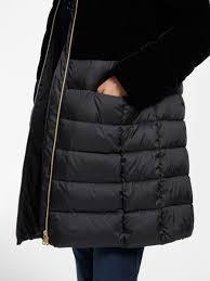gerry weber hooded velvet quilted coat black 28620304 kaifmmv