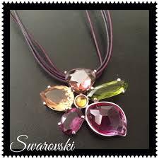 swarovski crystal flower pendant