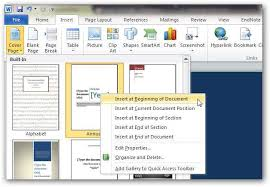 How To Create Custom Cover Pages In Microsoft Word 2010 By