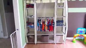 closet wardrobe organizer portable clothes non woven fabric cloth rage review shelving the rack wall mounted shoe wood