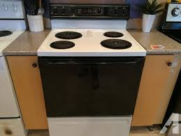 GE Black White Electric Range Stove Oven USED for Sale in Tacoma