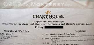 Chart House Monterey Ca Menu Chart House Monterey Monterey Bay Ca Restaurants