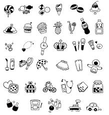 キュートな女の子のデコ文字イラスト コヨミイイラストマッチングサイト