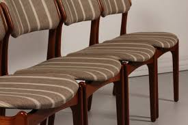 modern upholstered dining chairs erik buch for oddense maskinsnedkeri a s set 4 dining chairs od
