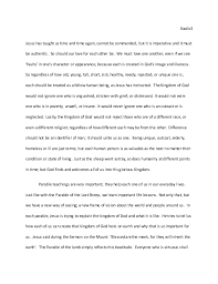 essay on a parable religion grade  love as 3 iliadis3 jesus