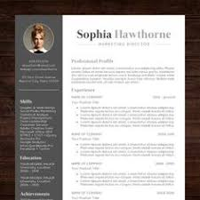 resume template with photo professional modern cv word mac or pc free cover letter teacher grey instant download the sophia proffesional resume templates