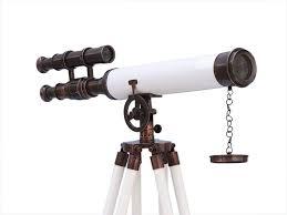 Hampton Nautical ST-0126-ACWL - Telescopio de pie de Cobre Envejecido con  Piel Blanca Griffith Astro de 127 cm: Amazon.com.mx: Hogar y Cocina